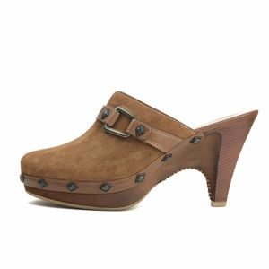 Cole Haan Studded Split Toe Heeled Mules